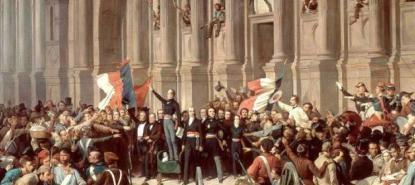 Vignette Épisode de la Révolution de 1848 : Lamartine repoussant le drapeau rouge à l'Hôtel de Ville, le 25 février 1848,